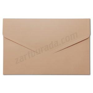 Bej renkli davetiye zarfı